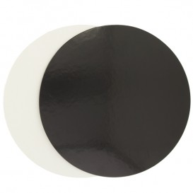 Disque Carton Noir et Blanc 230 mm (100 Unités)