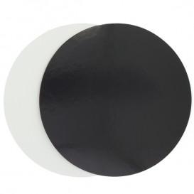 Disque Carton Noir et Blanc 260 mm (100 Unités)