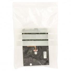 Sac en PE Fermeture zip à bandes blanches 18x25cm G160 (1000 Utés)