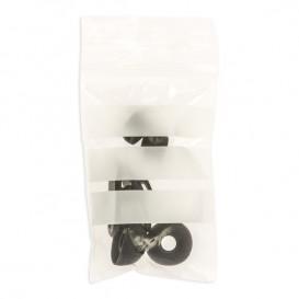 Sac en PE Fermeture zip à bandes blanches 4x6 cm G200 (1000 Utés)