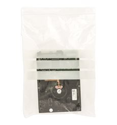 Sac en PE Fermeture zip à bandes blanches 18x25cm G200 (1000 Utés)