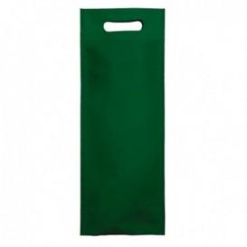 Sac Non-Tissé pour Bouteille Vert 17+10x40cm (200 Utés)