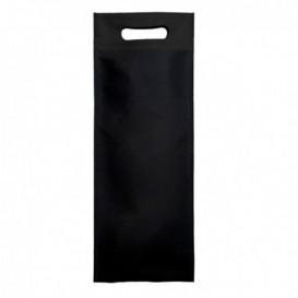 Sac Non-Tissé pour Bouteille Noir 17+10x40cm (200 Utés)