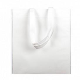 Sac Non-Tissé avec Anses Longues Blanc 38x42cm (200 Utés)