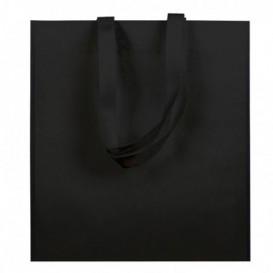 Sac Non-Tissé avec Anses Longues Noir 38x42cm (25 Utés)