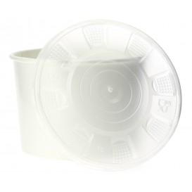 Pot en Carton Blanc avec Couvercle PP 736ml (25 Utés)