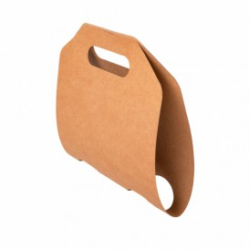 Porte Gobelets Papier Kraft 46,5x22,5cm Ø6,7cm (400 Utés)