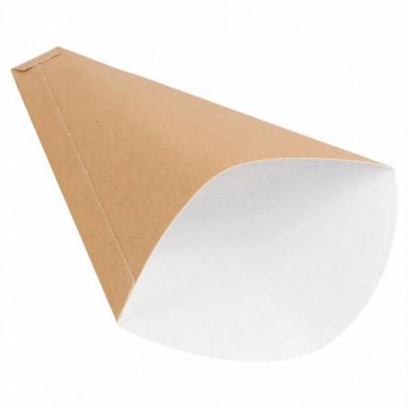"Cornet Carton Kraft ""Crêpes"" 12x2,5x19cm 300g/m2 (100 Utés)"