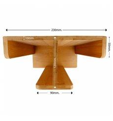 Organisateur Gobelet, Couvercle Bambou 23x12x30cm (8 Utés)