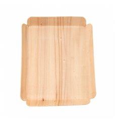Barquette en Bois Rectangulaire 15x11,5x1,5 cm (50 Utés)