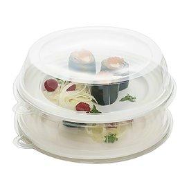 Couvercle Plastique Transp. pour Assiette 23x5cm (21 Unités)