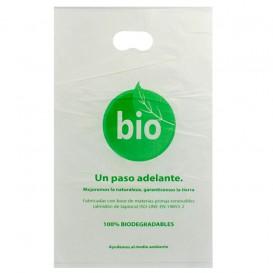 Sac en Plastique avec Anses Découpées 100% Compostable 20x33 cm (100 Utés)