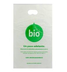 Sac en Plastique avec Anses Découpées 100% Compostable 20x33 cm (3000 Utés)