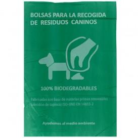 Rouleau de sac excrément chien 100% bio 18x26cm (100 unités)