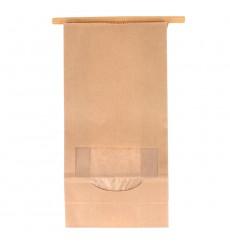 Sac SOS Kraft avec fermeture et fenêtre 12+6x23,5cm (50 Utés)