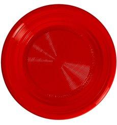 Assiette Amidon Maïs PLA Plate Rouge Ø170 mm (425 Utés)