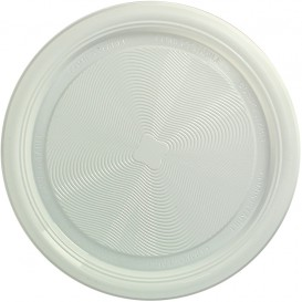 Assiette Amidon Maïs PLA Plate Blanc Ø220 mm (375 Utés)