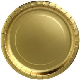 "Assiette ronde Carton ""Party Shiny"" Or Ø340mm (45 Unités)"