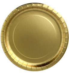 "Assiette ronde Carton ""Party Shiny"" Or Ø180mm (300 Unités)"