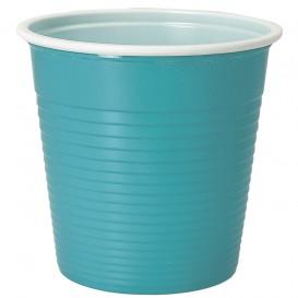 Gobelet Plastique PS Bicolore Bleu Clair 230ml (30 Unités)
