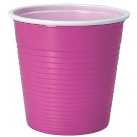Gobelet Plastique PS Bicolore Rose 230ml (30 Unités)