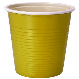 Gobelet Plastique PS Bicolore Jaune 230ml (30 Unités)