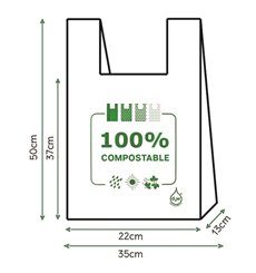 Sac à Bretelles 100% Compostable 35x50cm (2000 Utés)