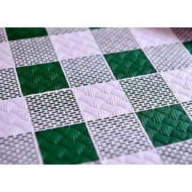 """Nappe en papier 1,2x1,2m """"Carrés Verts"""" 40g (300 Unités)"""