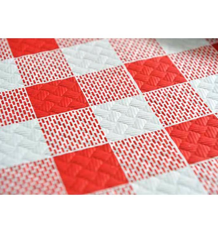 """Nappe en papier 1,2x1,2m """"Carrés Rouges"""" 40g (400 Unités)"""