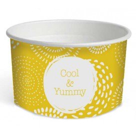 "Pot à glace en carton 5oz/140 ml ""Cool&Yummy"" (1000 Unités)"