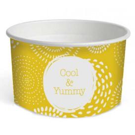 """Pot à glace en carton 5oz/140 ml """"Cool&Yummy"""" (50 Unités)"""