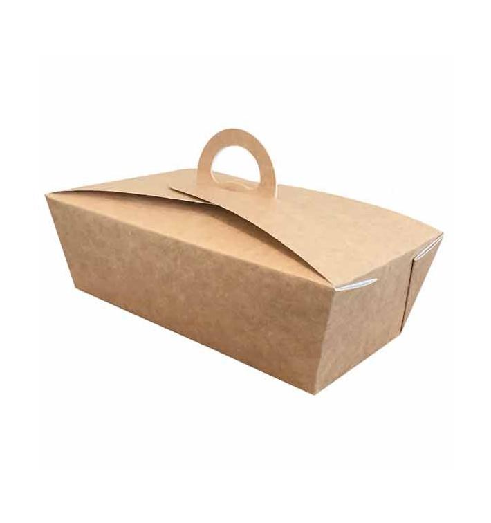 "Boîte Kraft avec poignées ""Gourmet Bag"" 12x9x5cm (350 Utés)"