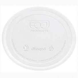 Couvercle Récipient Compostable PLA Transparent 145ml (100 Utés)