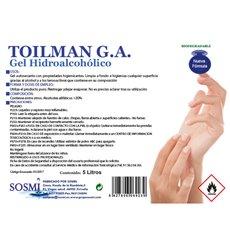 Gel sanitaire hydroalcoolique antibactérien 5000ml (1 Uté)