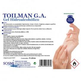 Gel sanitaire hydroalcoolique antibactérien 5000ml (4 Utés)