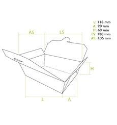 Boîte Américaine Petit Kraft 11,8x9x6,3cm (250 Utés)