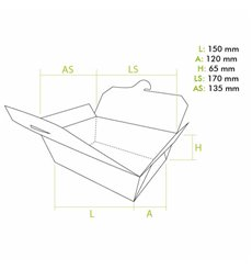 Boîte Américaine Moyen Kraft 15x12x6,5cm (50 Utés)