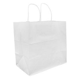 Sac en Papier Kraft Blanc avec Anses 80g 30+18x29cm (200 Utés)