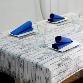 """Nappe en papier 1,2x1,2m """"Bois Blanc"""" 37g (300 Unités)"""