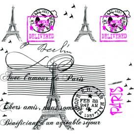 """Nappe en papier 1,2x1,2m """"Paris"""" 37g (300 Unités)"""