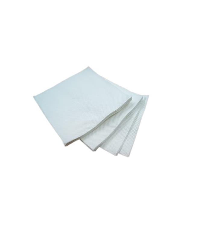 Serviette en Papier Micro Point 20x20cm Blanc Recyclé (100 Utés)