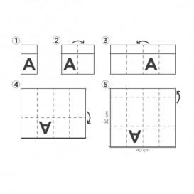 Serviette Kangourou en Papier Bleu 30x40cm (30 Unités)