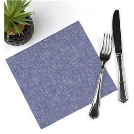 """Serviette Papier molletonnée """"Cow Boys Bleu"""" 40x40cm (50 Utés)"""