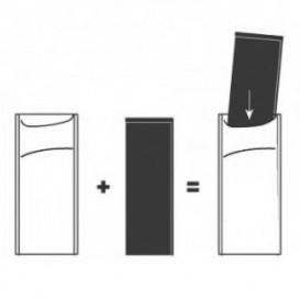 Enveloppe Porte-Couverts avec Serviettes Orange (1000 Utés)