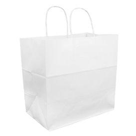 Sac en Papier Kraft Blanc avec Anses 100g 30+18x29cm (25 Utés)