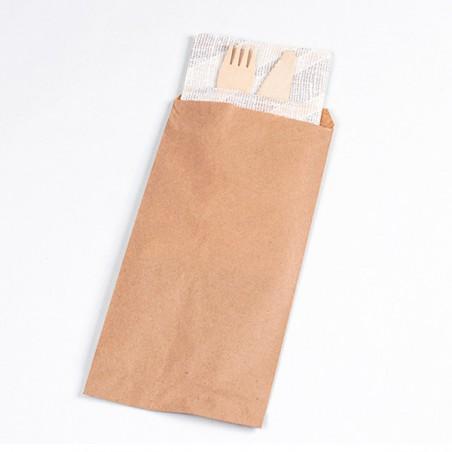 Enveloppe Porte-Couverts Kraft 11x24cm (125 Utés)
