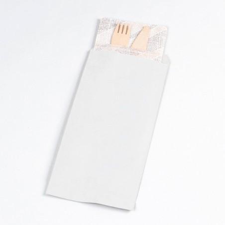 Enveloppe Porte-Couverts Blanc 11x24cm (125 Utés)