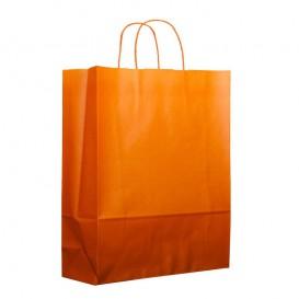 Sac en Papier Orange avec Anses 100g 25+11x31cm (25 Utés)