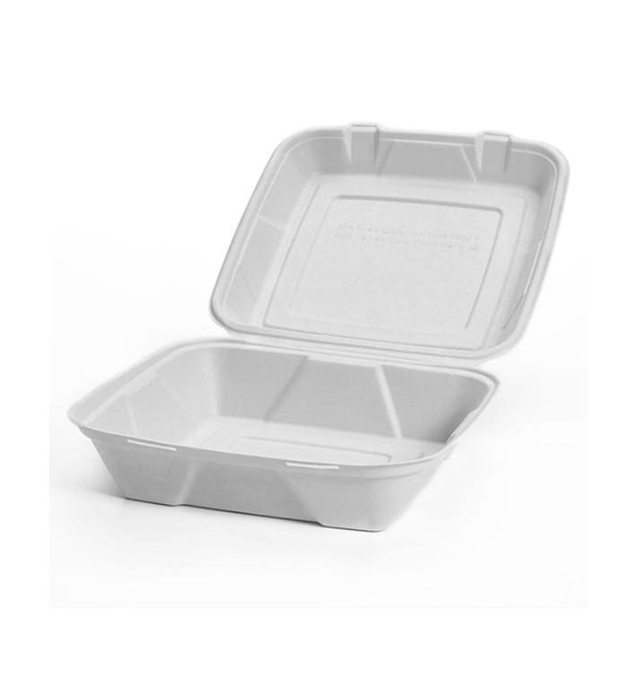 Boîte Bio en Canne à Sucre Blanc 24x23x7,7cm (200 Utés)
