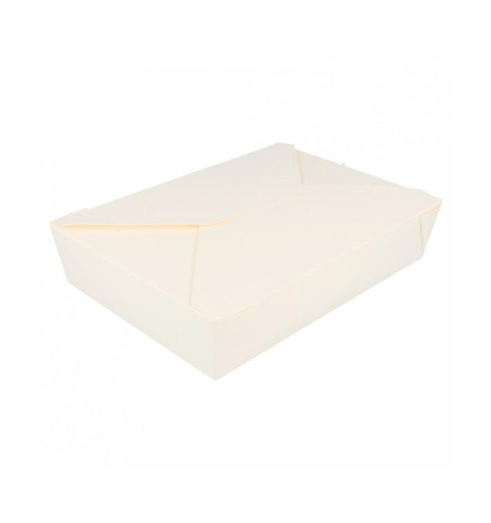 Boîte Carton Américaine Blanc 19,7x14x4,6cm 1470ml(200 Utés)